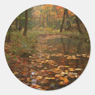 Los E.E.U.U., Virginia, otoño en parque de estado Pegatina Redonda