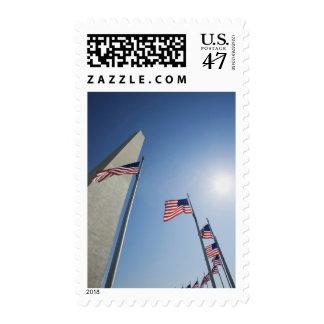Los E.E.U.U., Washington, anillo de las banderas Estampilla