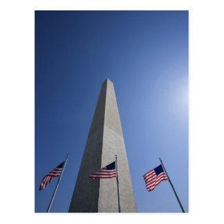 Los E.E.U.U., Washington, banderas americanas de Postales