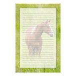 Los E.E.U.U., Washington, caballo en campo de la Papelería