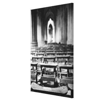 Los E.E.U.U., Washington DC. Bancos de la iglesia  Lona Envuelta Para Galerias