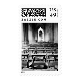 Los E.E.U.U., Washington DC. Bancos de la iglesia Franqueo