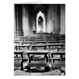 Los E.E.U.U., Washington DC. Bancos de la iglesia  Tarjeton