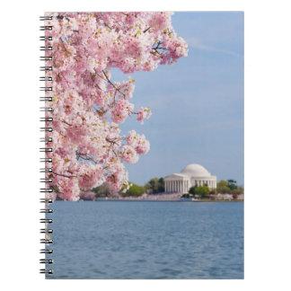 Los E.E.U.U., Washington DC, cerezo Libretas Espirales