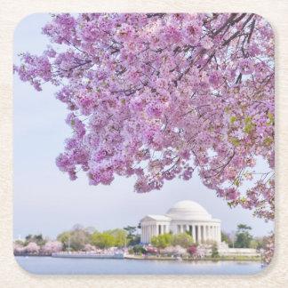 Los E.E.U.U., Washington DC, cerezo en la Posavasos Desechable Cuadrado