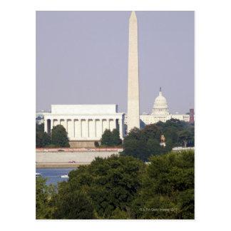 Los E.E.U.U., Washington DC, monumento de Postales