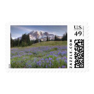 Los E.E.U.U., Washington, el Monte Rainier NP, el Sello Postal