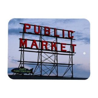 Los E.E.U.U., Washington, Seattle, mercado Imanes Rectangulares