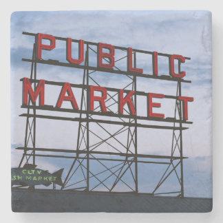 Los E.E.U.U., Washington, Seattle, mercado Posavasos De Piedra