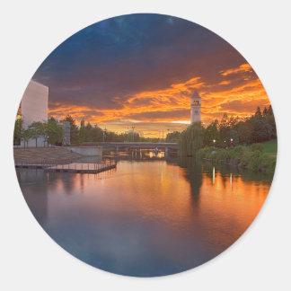Los E.E.U.U., Washington, Spokane, parque de la Pegatina Redonda