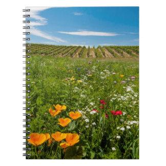 Los E.E.U.U., Washington, Walla Walla. Wildflowers Libretas Espirales