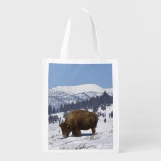 Los E.E.U.U., WY, Yellowstone NP, bisonte del biso Bolsas De La Compra