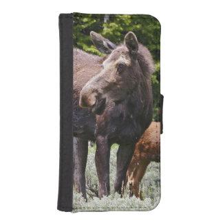 Los E.E.U.U., Wyoming, montañas del Bighorn, Alces Fundas Tipo Billetera Para iPhone 5