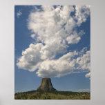 Los E.E.U.U., Wyoming, nubes sobre la torre 2 del  Impresiones