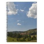 Los E.E.U.U., Wyoming, nubes sobre la torre del di Libros De Apuntes Con Espiral