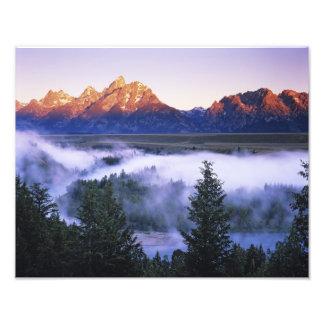 Los E.E.U.U., Wyoming, parque nacional magnífico d Cojinete