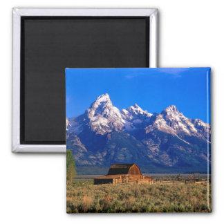 Los E.E.U.U., Wyoming, parque nacional magnífico d Imán Cuadrado