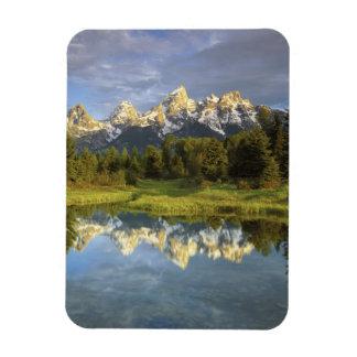 Los E.E.U.U., Wyoming, parque nacional magnífico d Imán Foto Rectangular