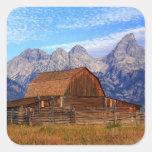 Los E.E.U.U., Wyoming, parque nacional magnífico d Pegatinas