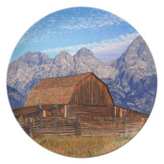 Los E.E.U.U., Wyoming, parque nacional magnífico d Plato De Comida
