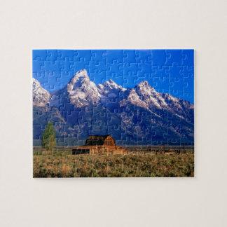 Los E.E.U.U., Wyoming, parque nacional magnífico d Rompecabezas