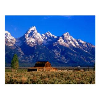 Los E.E.U.U., Wyoming, parque nacional magnífico d Postal