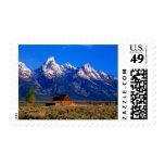 Los E.E.U.U., Wyoming, parque nacional magnífico Timbre Postal