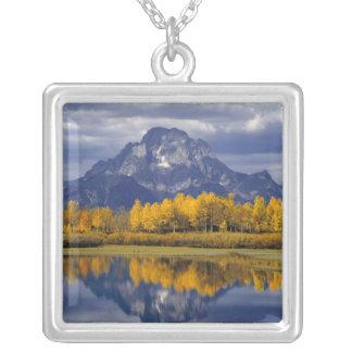 Los E.E.U.U., Wyoming, Teton magnífico NP. Contra Colgante Cuadrado