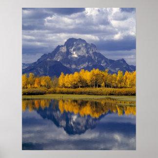 Los E.E.U.U., Wyoming, Teton magnífico NP. Contra Póster