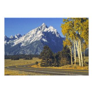 Los E E U U Wyoming Teton magnífico NP Ruta ve Impresiones Fotográficas