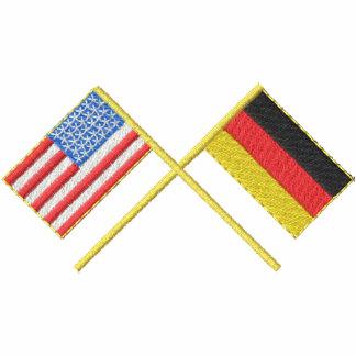 Los E.E.U.U. y Alemania Sudadera Bordada Con Capucha