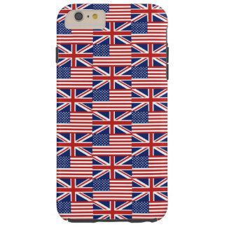 Los E.E.U.U. y banderas BRITÁNICAS Funda De iPhone 6 Plus Tough