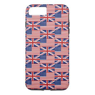 Los E.E.U.U. y banderas BRITÁNICAS Funda iPhone 7 Plus