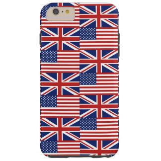 Los E.E.U.U. y banderas BRITÁNICAS Funda Resistente iPhone 6 Plus