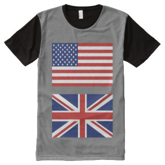 Los E.E.U.U. y banderas BRITÁNICAS. .with su color