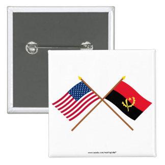 Los E.E.U.U. y banderas cruzadas Angola Pin
