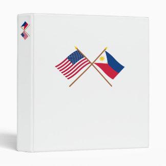 """Los E.E.U.U. y banderas cruzadas Filipinas Carpeta 1"""""""