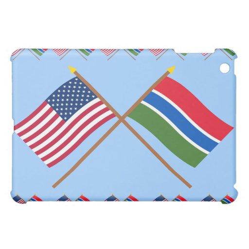 Los E.E.U.U. y banderas cruzadas Gambia