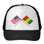 Los E.E.U.U. y banderas cruzadas Guinea Gorro