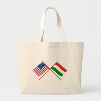 Los E.E.U.U. y banderas cruzadas Hungría Bolsa