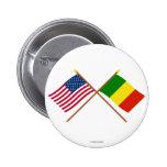 Los E.E.U.U. y banderas cruzadas Malí Pin