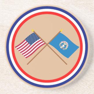 Los E.E.U.U. y banderas cruzadas Mariana septentri Posavaso Para Bebida