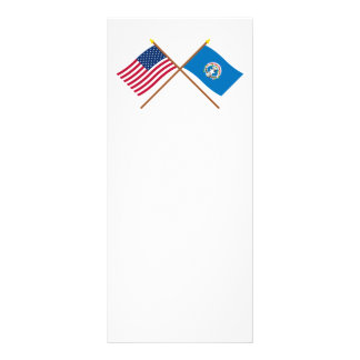 Los E.E.U.U. y banderas cruzadas Mariana septentri Lona