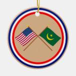 Los E.E.U.U. y banderas cruzadas Mauritania Ornamentos De Reyes Magos