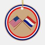 Los E.E.U.U. y banderas cruzadas Países Bajos Ornamente De Reyes