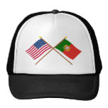 Los E.E.U.U. y banderas cruzadas Portugal Gorras De Camionero