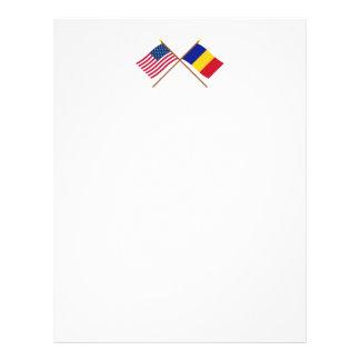 Los E.E.U.U. y banderas cruzadas República eo Plantillas De Membrete