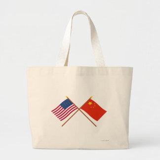 Los E.E.U.U. y banderas cruzadas República Popular Bolsa