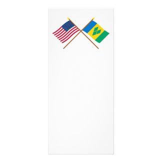 Los E.E.U.U. y banderas cruzadas San Vicente Lonas