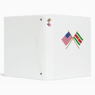 """Los E.E.U.U. y banderas cruzadas Suriname Carpeta 1"""""""